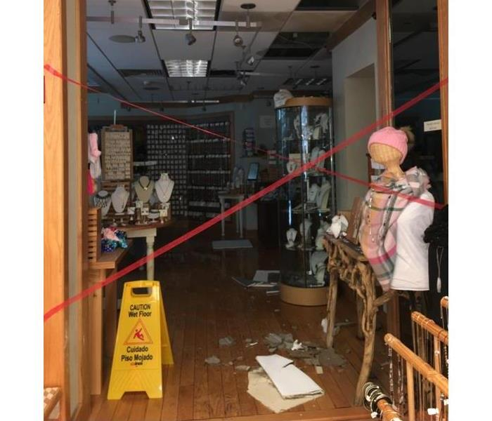 Retail store in Cambridge sustains a water damage
