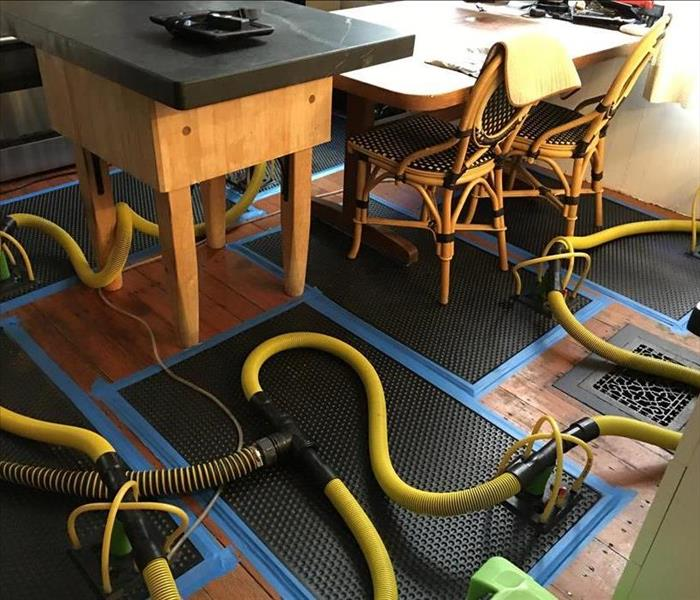 Inject-I-Dry system saving kitchen floor