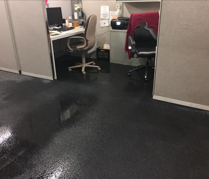 Commercial Water damage over the weekend